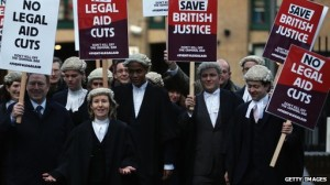 Barristers Solicitors Protest | Legal Aid Reform Chris Grayling MP |Family Law Company