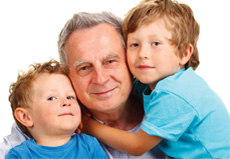 Grandparents Rights | Grandchildren Hug Grandfather | Family Law Company