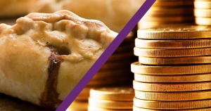an image of a pastie and money to illustrate the family law article on pasties and pension.