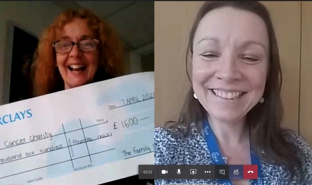Virtual cheque presentation to FORCE